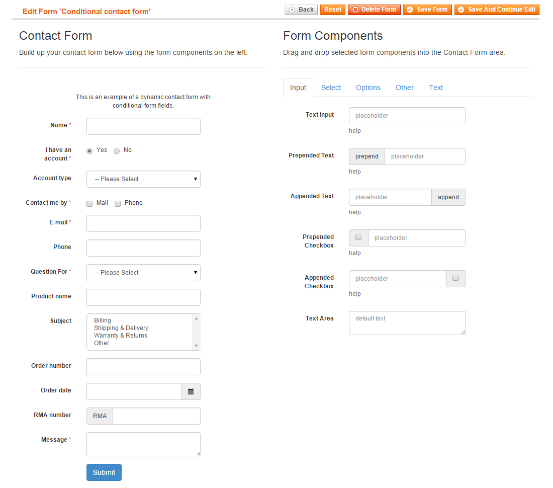 Creating a Dynamic Contact Form for Magento | Plugin Company | e ...