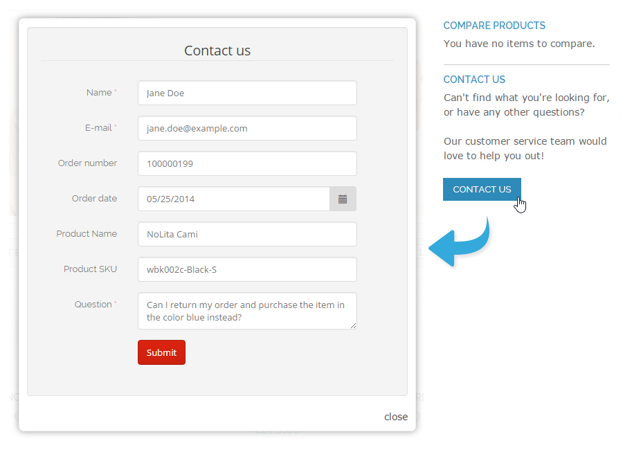 10 Great Custom Contact Form Examples for Magento – Customer Contact Form Template