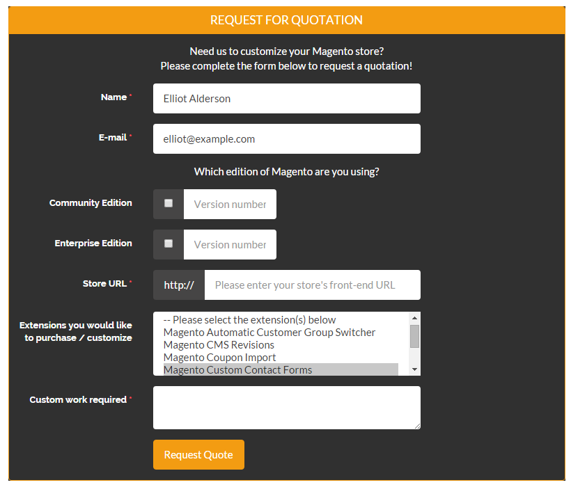 10 Great Custom Contact Form Examples for Magento | Plugin Company ...