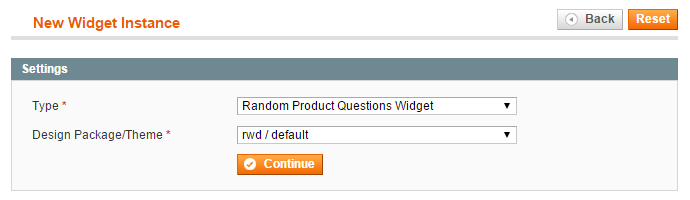 create product questions widget
