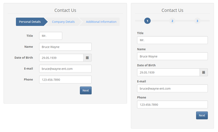 magento 2 multi-page form