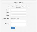 bootstrap default theme