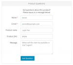automatically prefilled contact form