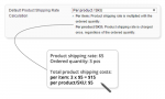 product shipping rate calculation