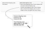 total product shipping cost calculation