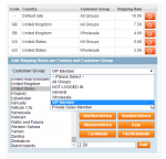 magento shipping rates per country and customer group